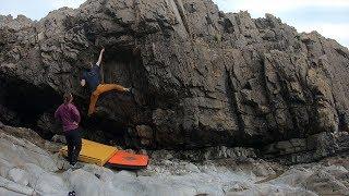 Seaside bouldering