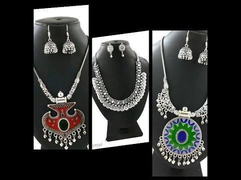 Classy Black Metal Jewellery collection with price