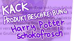 Kack Produktbeschreibung - Harry Potter Schokofrosch