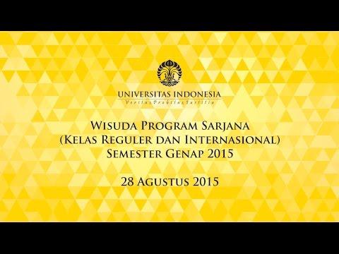 Wisuda UI Program Sarjana Reguler & Internasional Semester Genap 2015