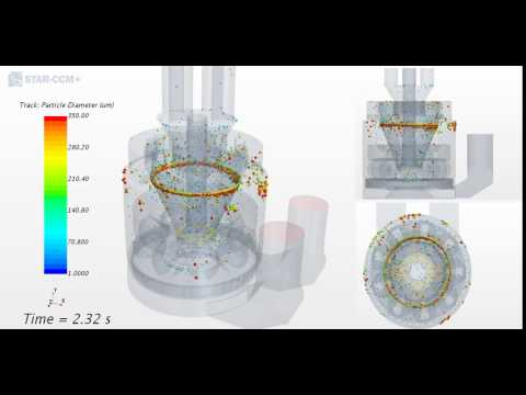 Babcock and Wilcox 8 5E coal mill - CFD Lagrangian Multiphas