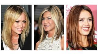 średnie fryzury