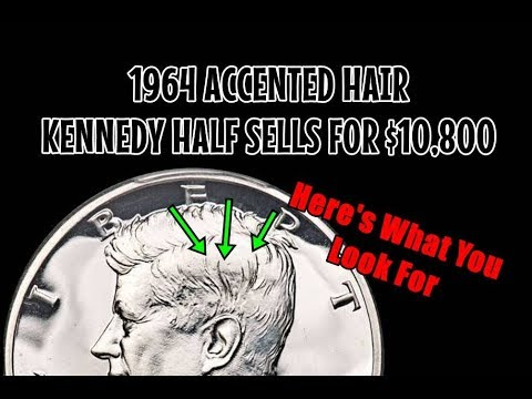 1964 Accented Hair Kennedy Half Dollar Sells For $10800!  How Do You Know If You Found One?