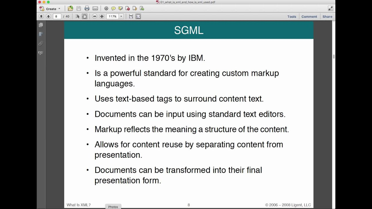 lecture what is xml and how is it used youtube