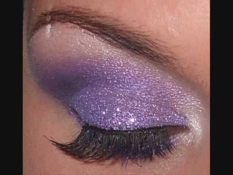 How to Create a glitter glam purple eye makeup look « Makeup ...