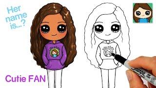 How to Draw a Cuтie FAN 🥰 Cute Girl