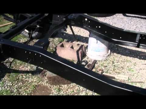 Chevy pickup restoration-cleaning up the frame rails
