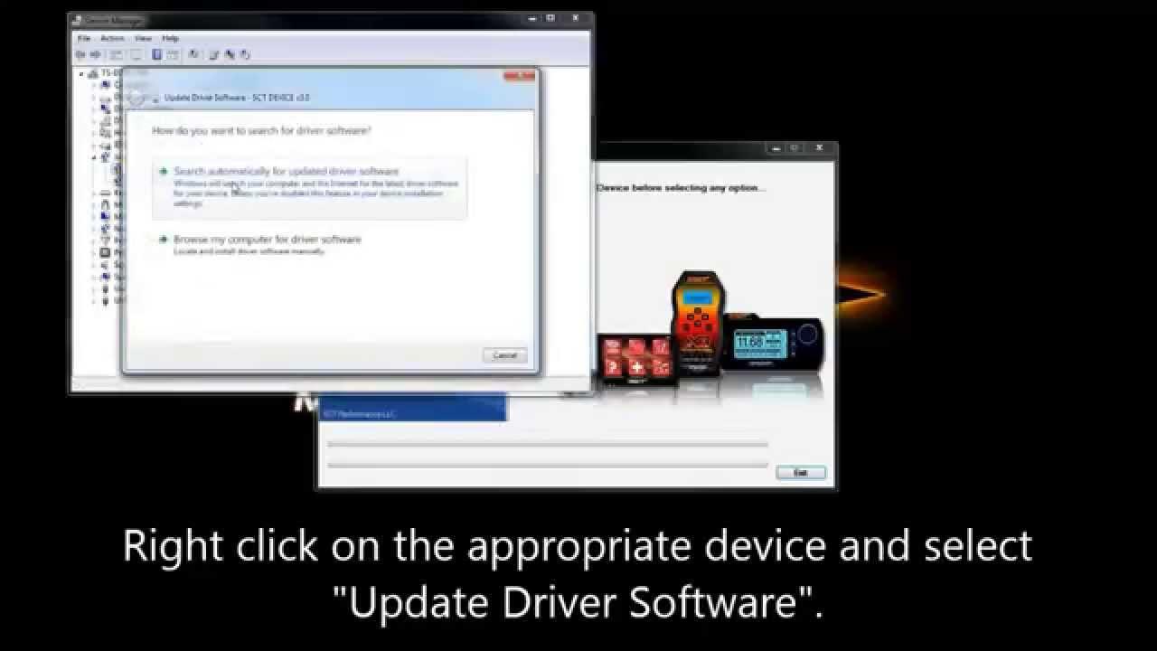SCT Driver Installation Fix