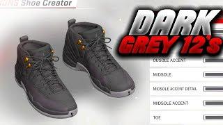 NBA 2K18 SHOE CREATOR TUTORIAL HOW TO MAKE AIR JORDAN 12 DARK GREY BEST AIR  JORDAN ... ca0c3c218