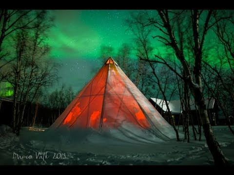 amazing Aurora Borealis - Timelapse  in Abisko National park HD