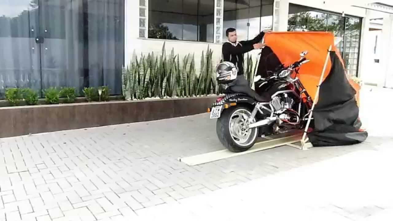 2a21233faa3 GARAGEM RETRATIL PARA MOTOS - YouTube