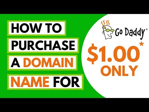 How To Purchase A Godaddy .com Domain Name For 1 USD Only