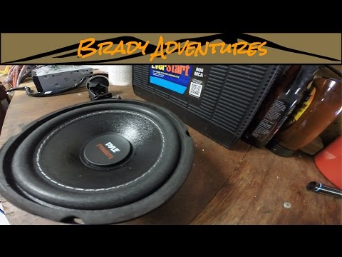 pyle plpw6d subwoofer install 100 series land cruiser youtube rh youtube com Pyle Driver Subwoofer Are Pyle Subwoofers Good