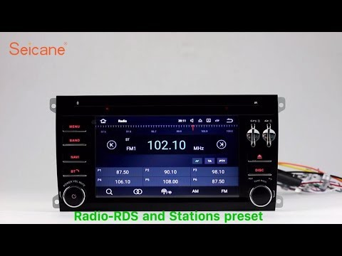 Android 7.1 2003-2011 Porsche Cayenne Radio GPS DVD Player support 3G WIFI HD TV