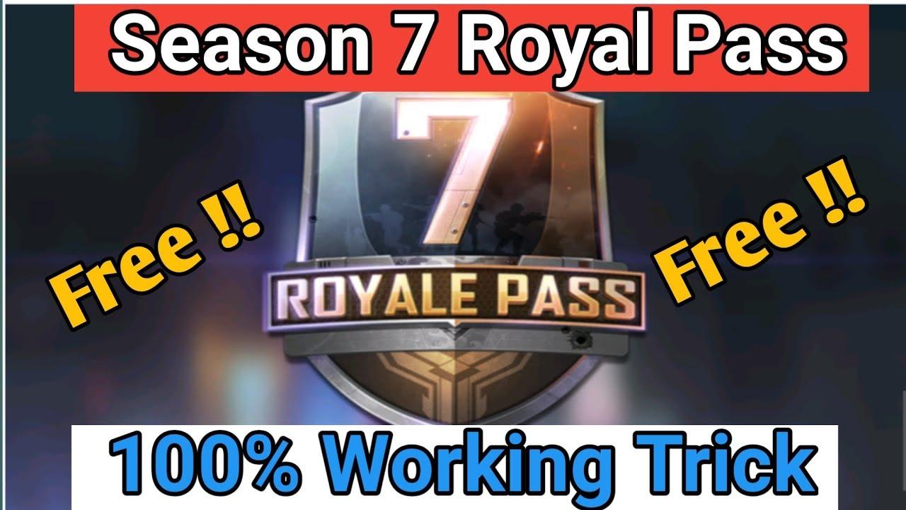 Pubg Mobile Season 7 Royal Pass for Free / 100% Working Trick