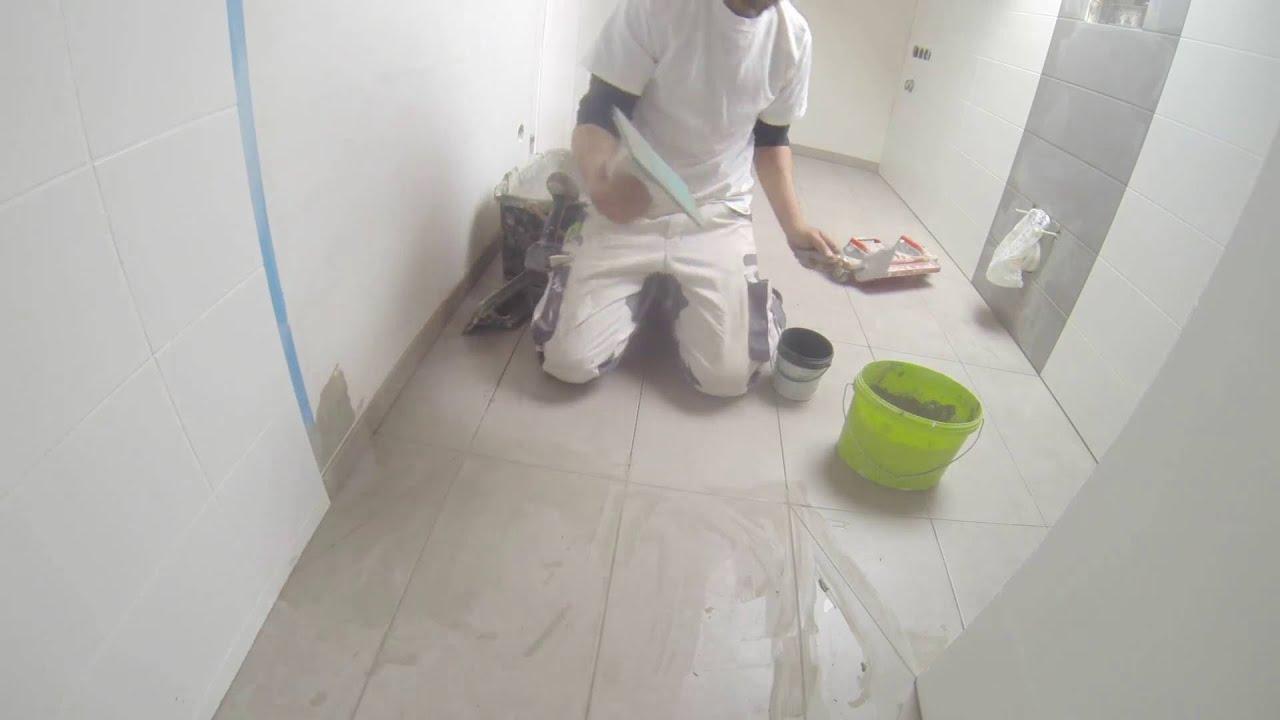 Fliesen verfugen Wand Boden Dusche 2 Farbig Badezimmer  YouTube