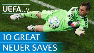Watch ten memorable saves by manuel neuer for germany, schalke and bayern münchen.subscribe: http://www./subscription_center?add_user=uefafacebook...