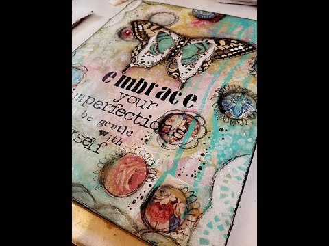 Embrace your imperfections collage and acrylic Sunday inspiration 4 15 18 2