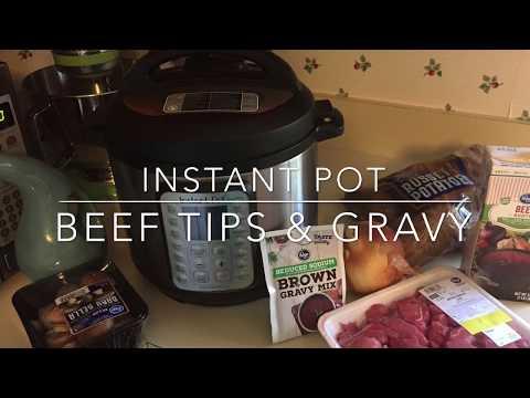 Instant Pot | Beef Tips & Gravy | Recipe