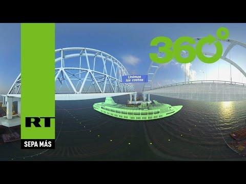Unimos las costas en 360º: Así se verá el puente que unirá Crimea y el resto de Rusia