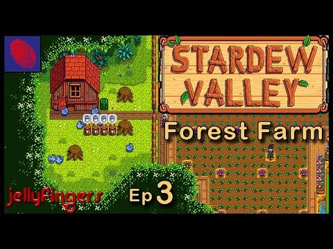 Mines are easy with a Prongy thing. Stardew Valley. Forest Farm Yr 1 Spring.