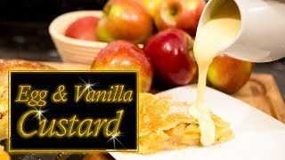 Custard,  Egg and Vanilla, Homemade.