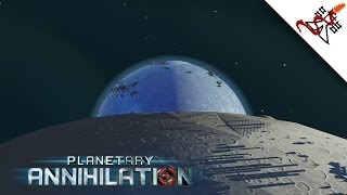 Planetary Annihilation - 1v2v2v2 | Planet Destruction | Orbital Units | Nukes & Massive Naval Armies