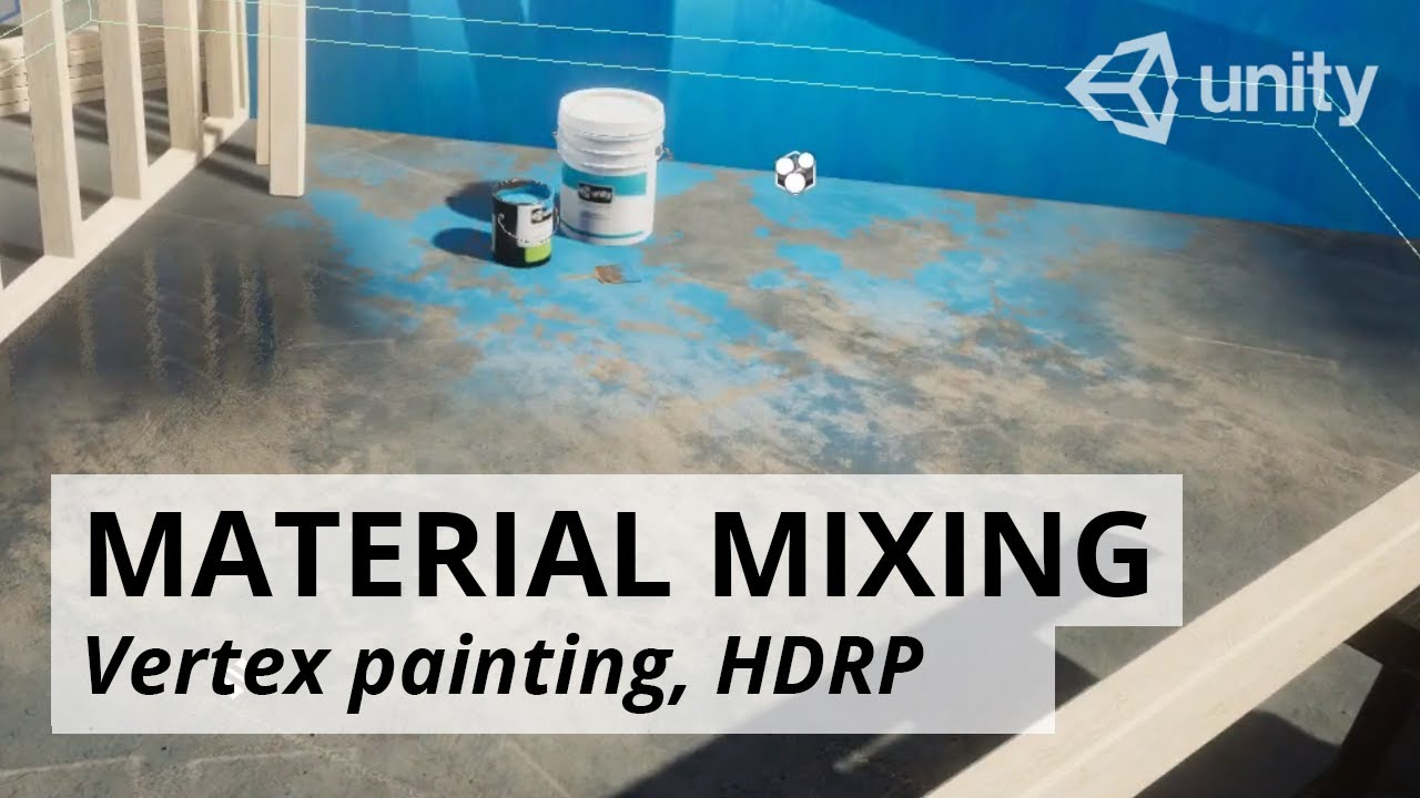 Vertex painting in UNITY HDRP