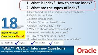 Oracle Interview Question oracle index related questions
