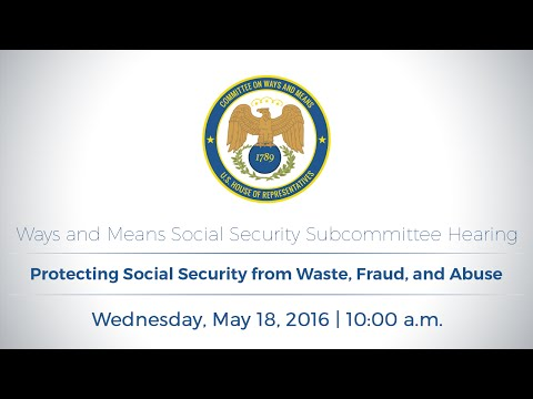 Social Security Subcommittee Hearing