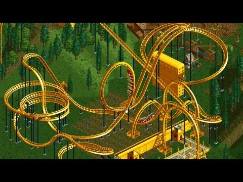 Roller Coaster Tycoon 2 - Largest Park Possible 7700 Guests