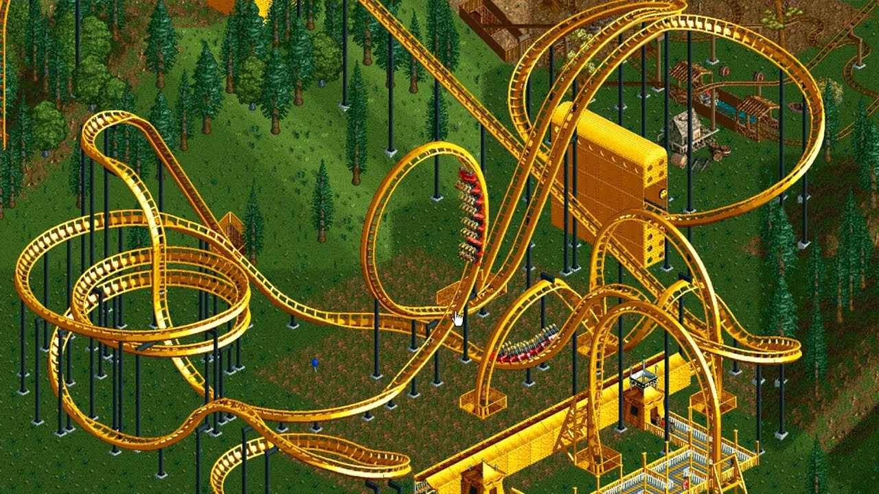 Victoria Falls Wallpaper Roller Coaster Tycoon 2 Largest Park Possible 7700