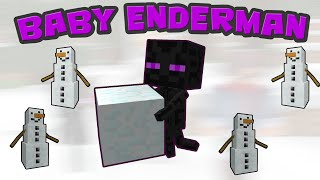 Minecraft Baby Enderman - Minecraft Animation(Minecraft Mob Stories)