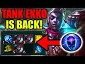 NEW TANK EKKO BUILD! ITS SO BROKEN (NEW RUNES) Black Cleaver CDR Stacking - League of Legends