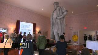 Columbus statue in NYC becomes art project