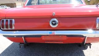 65 Ford Mustang red video