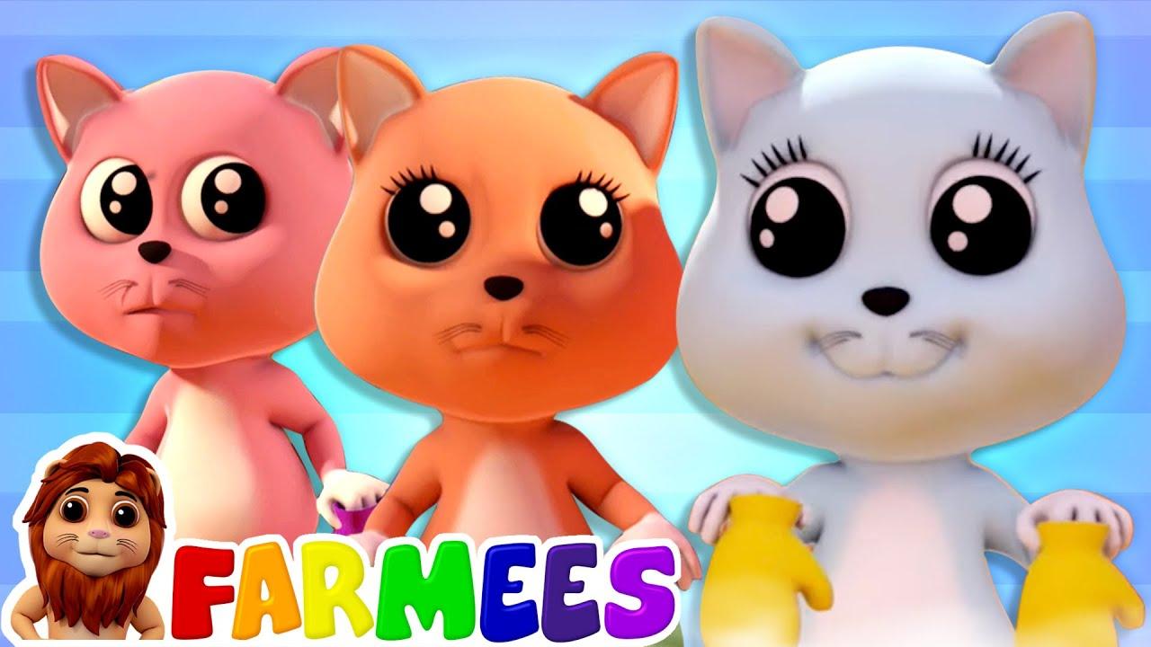 Three Little Kittens | Nursery Rhymes & Kids Songs | Animal Songs | Baby Cartoon by Farmees