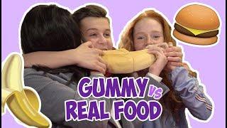 #59 GUMMY vs REAL FOOD CHALLENGE🍔🍌 | JUNIORSONGFESTIVAL.NL🇳🇱