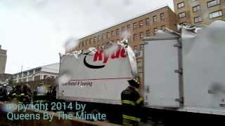 TRUCK HITS OVERPASS JACKIE ROBINSON PKWY NYC