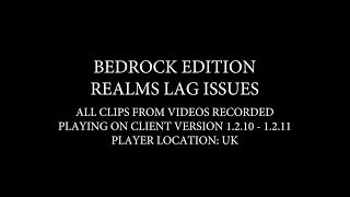 Minecraft Bedrock Realms - Lag Issues & Other Bugs