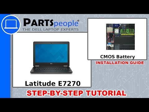 Dell Latitude E7270 (P26S001) CMOS Battery Removal