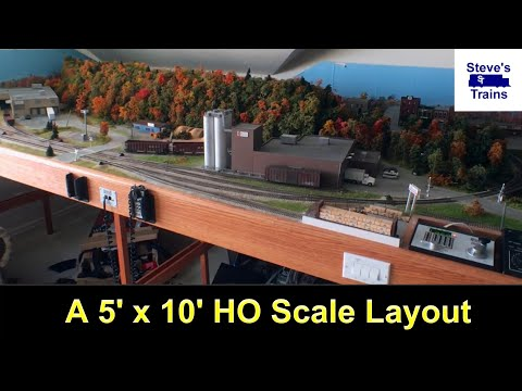 My 5 x 10 Foot HO Scale Layout