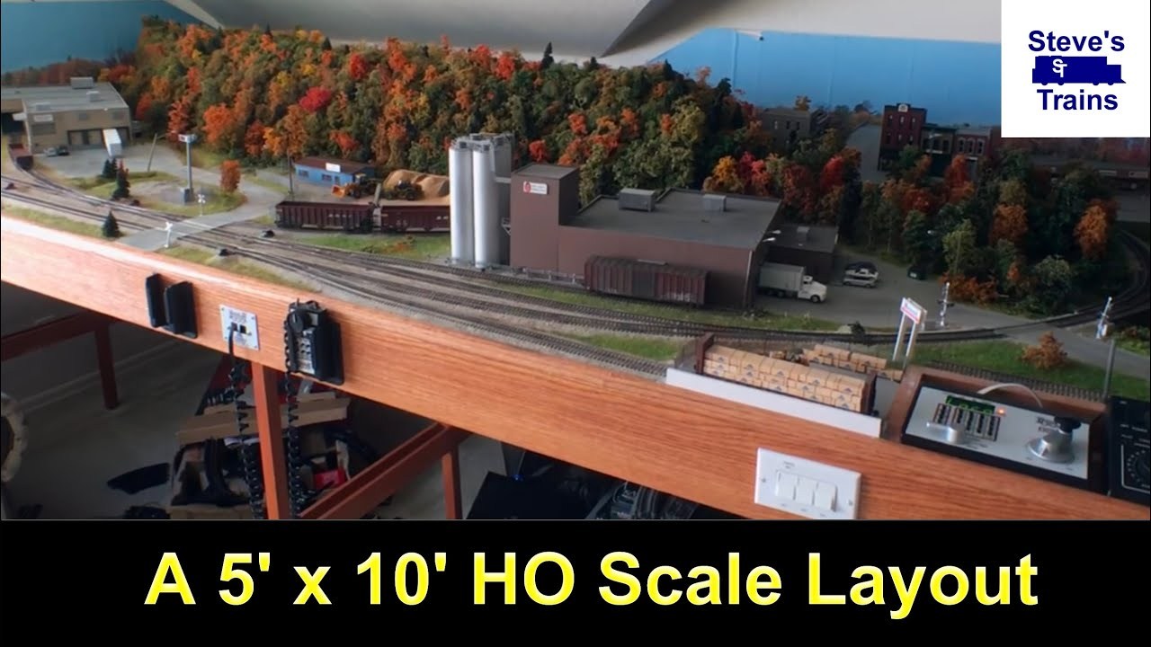 My 5 X 10 Foot Ho Scale Layout Youtube Model Train Mountain Scenery Also Wiring Diagrams On Dcc Steves Trains