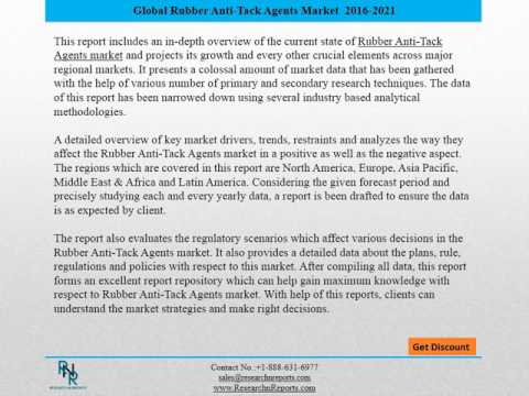 Global Rubber Anti Tack Agents Market Research Report 2016
