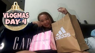 VLOGMAS DAY 4 - GAP , ADIDAS  , VICTORIA'S SECRET HAUL 2019 | Rayna Lapitan