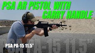 "PSA PA-15 11.5""  Carbine-Length BTR Classic Stealth Pistol w/Carry Handle"