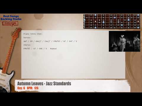 Autumn Leaves Jazz Standards Melody Guitar Backing Track With