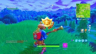 """""""Search where the Stone Heads are Looking"""" Location Fortnite Week 6 Challenges!"""