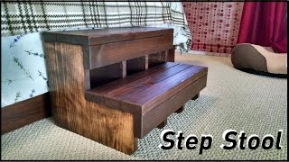 A simple step stool made out of cedar and pine for a customer. I made it last summer and finally had time to edit it. Thanks for