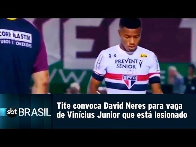 Tite convoca David Neres para vaga de Vinícius Junior que está lesionado | SBT Brasil (08/03/19)